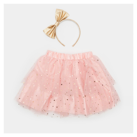 Sinsay - Súprava: sukňa a čelenka - Ružová