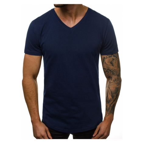 Granátové tričko s V výstrihom O/1210Z BREEZY