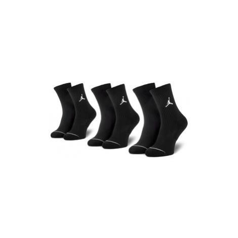NIKE Súprava 3 párov vysokých ponožiek unisex SX5545 013 Čierna