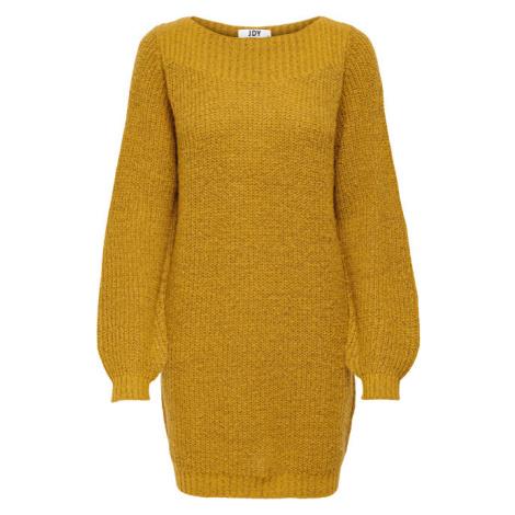 Jacqueline de Yong Dámske šaty JDYWHITNEY Relaxed Fit Harvest Gold