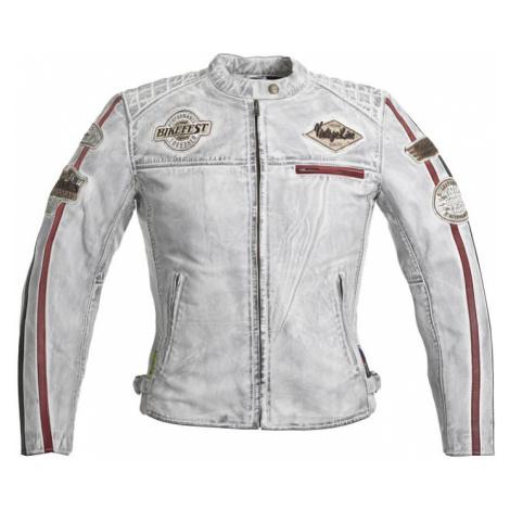 Dámska kožená moto bunda W-TEC Sheawen Lady White Farba biela