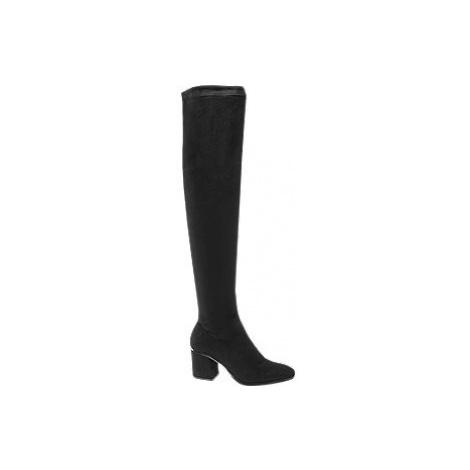Čierne čižmy nad kolená Vero Moda