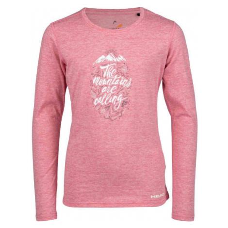 Head MAUI ružová - Dievčenské tričko s dlhým rukávom