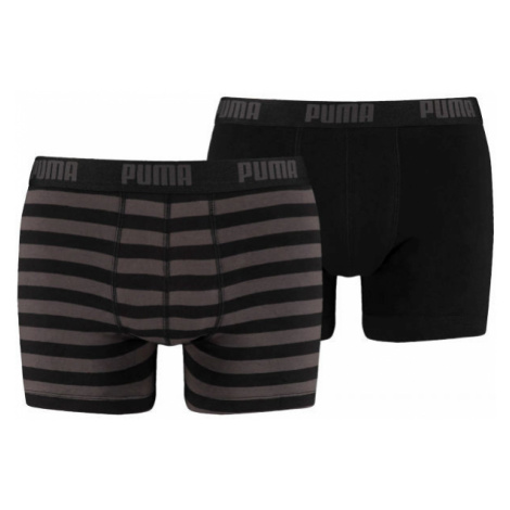 Puma STRIPE 1515 BOXER 2P čierna - Pánske boxerky