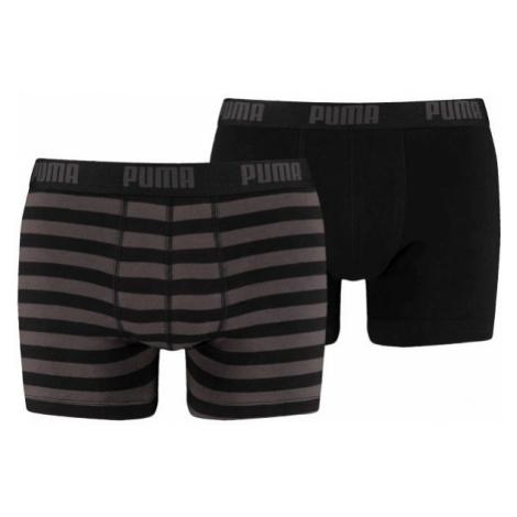 Puma STRIPE 1515 BOXER 2P šedá - Pánske boxerky