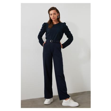 Trendyol Navy Pocket Detailed Pants