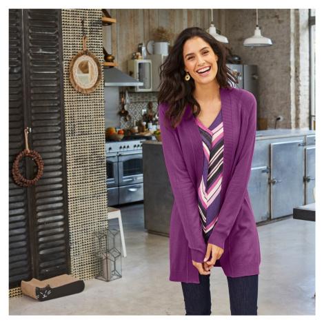 Blancheporte Dlhý sveter purpurová