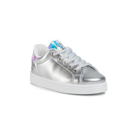 Guess Sneakersy Lucy FI7LUC ELE12 Strieborná