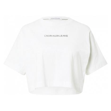 Calvin Klein Jeans Tričko  biela / čierna