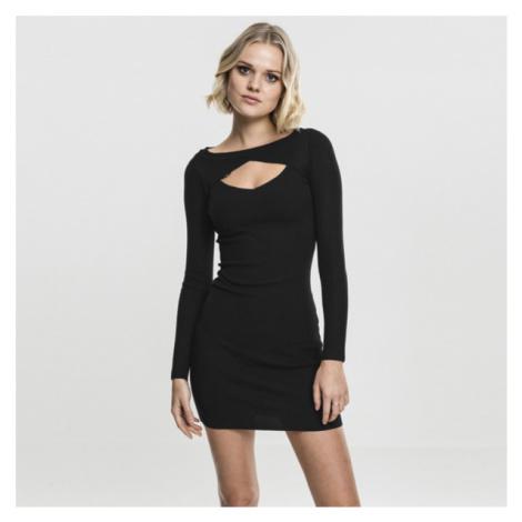Dámske šaty Urban Classics Ladies Cut Out Dress black - Veľkosť:L