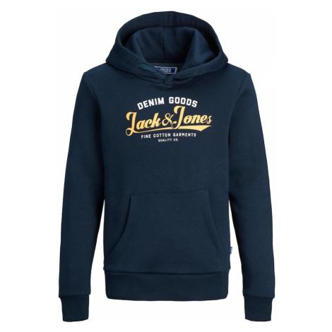 Jack & Jones Junior Mikina  žltá / čierna / biela