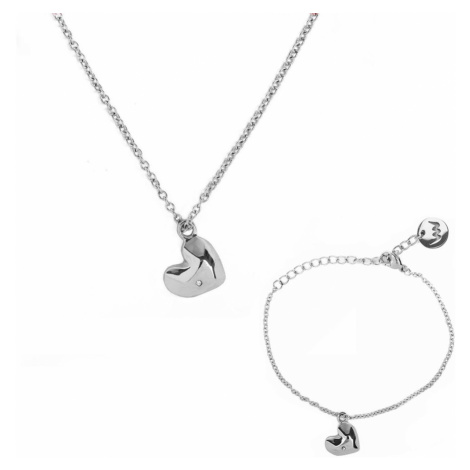 Bracelet and necklace Vuch Amour Silver Couple