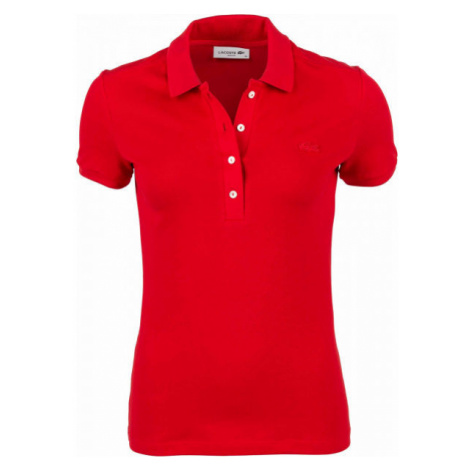 Lacoste SHORT SLEEVE POLO červená - Dámske polo tričko