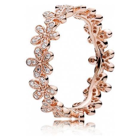 Pandora Bronzový Sedmokráskový prsteň 180934CZ mm