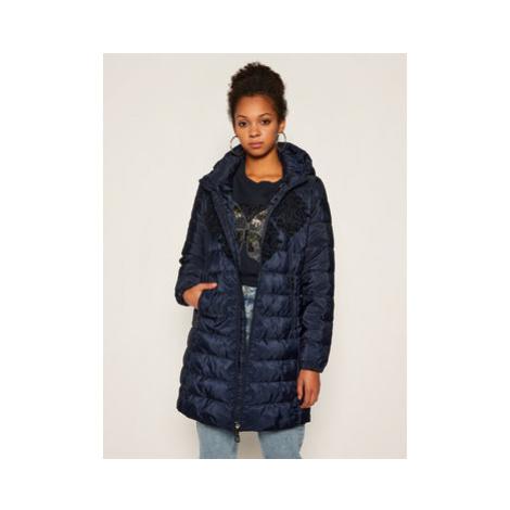 Desigual Zimný kabát Lena 20WWEW35 Tmavomodrá Regular Fit