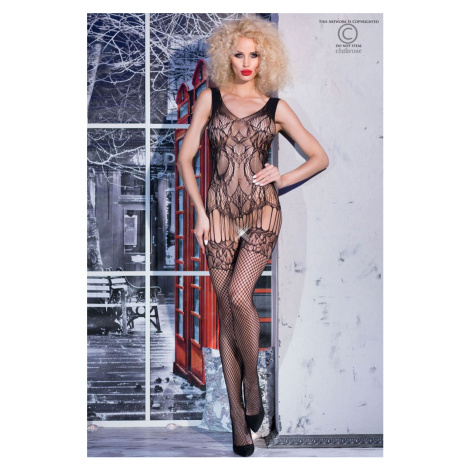 Čierne bodystockings CR-4232 Chilirose