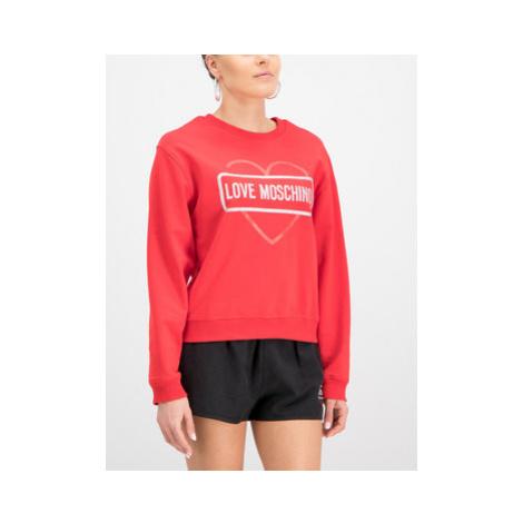 LOVE MOSCHINO Mikina W630621E2017 Červená Regular Fit