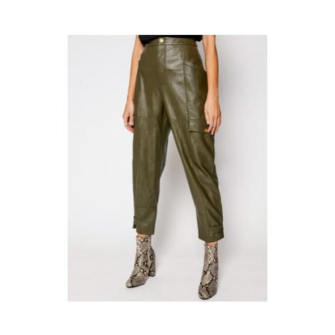 Pinko Kožené nohavice Billings PE 21 UNQS 1Q108A Y6VH Zelená Regular Fit
