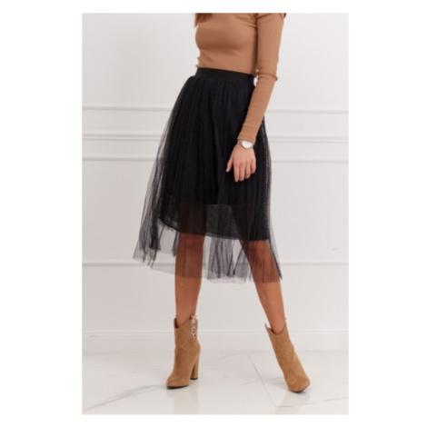 Pôsobivá tylová sukňa, čierna FASARDI
