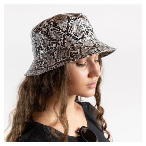 Šedý vzorovaný klobúk Snakeskin Bucket Kangol