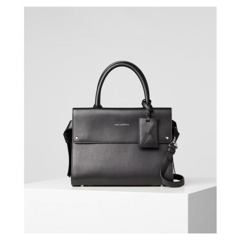Kabelka Karl Lagerfeld K/Ikon Mini Top Handle - Čierna