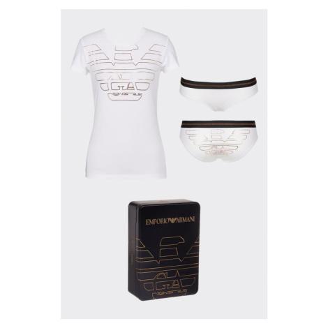 Emporio Armani Underwear Emporio Armani darčekové balenie tričko + nohavičky - biela