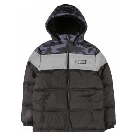 NAME IT Zimná bunda  strieborná / petrolejová / čierna
