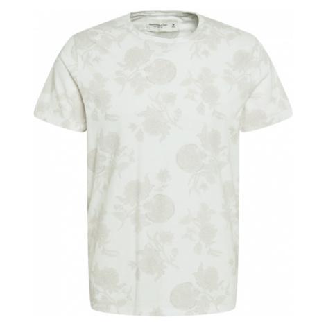 Abercrombie & Fitch Tričko  biela / sivá