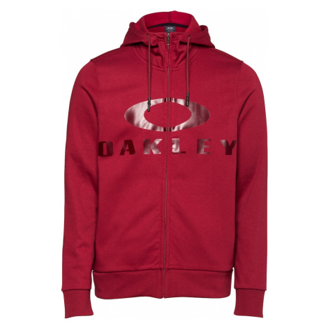 OAKLEY Športová mikina so zipsom 'BARK'  červená