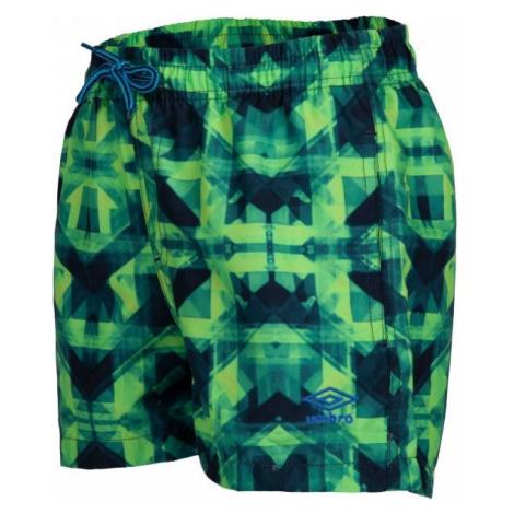 Umbro ZAZO zelená - Chlapčenské kúpacie šortky