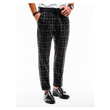 Čierne vzorované nohavice p884