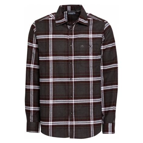 CRAGHOPPERS Funkčná košeľa  čierna / vínovo červená / biela