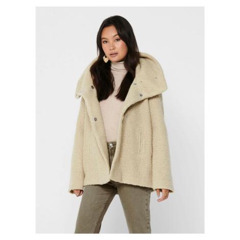 Krémový krátky kabát Jacqueline de Yong Sonya