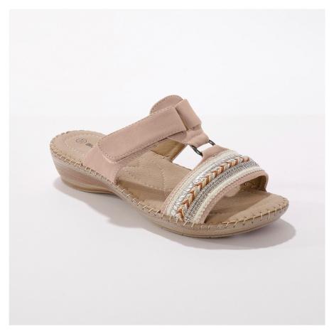 Blancheporte Pohodlné papuče na kline, béžové béžová