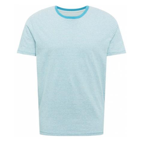 ESPRIT Tričko  tyrkysová / biela