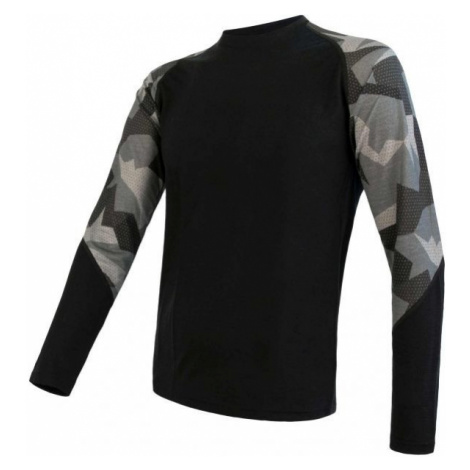 Sensor MERINO IMPRESS čierna - Pánske funkčné tričko