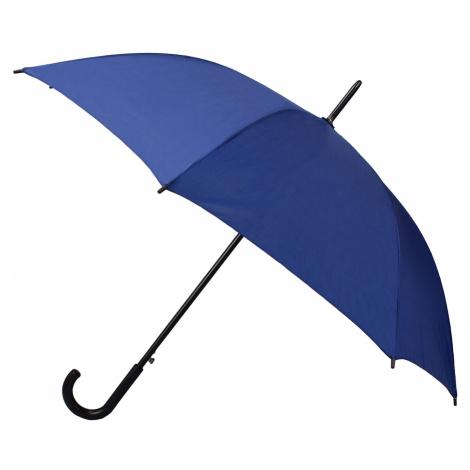 Semiline Unisex's Long Auto Open Umbrella 2508-1 Navy Blue
