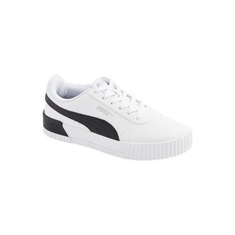 Biele kožené tenisky Puma Carina L