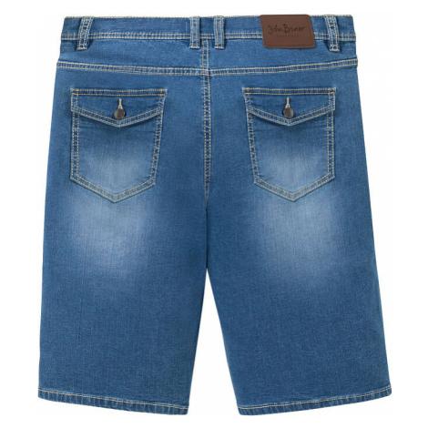 Regular Fit jemné strečové džínsové bermudy
