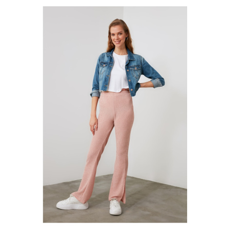 Trendyol Knitted Trousers with Powder Slits