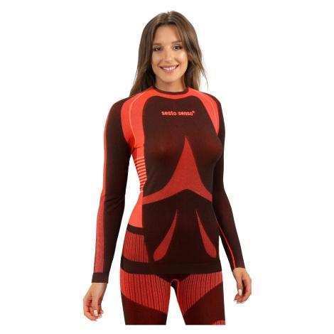 Sesto Senso Woman Long Sleeves Shirt Coral