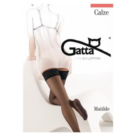 Samodržiace pančuchy Gatta Matilde 15-20 DEN Černá
