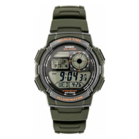 Športové pánske hodinky v zelenom prevedení Casio AE-1000W 3AVDF