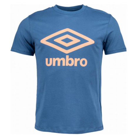 Umbro FW LARGE LOGO COTTON TEE modrá - Pánske tričko