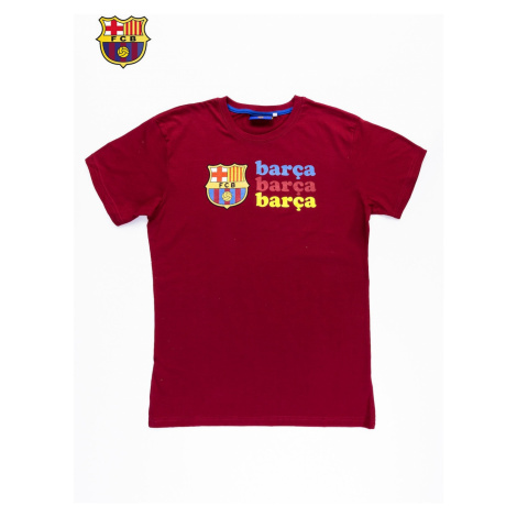 Red men´s t-shirt with FC BARCELONA print