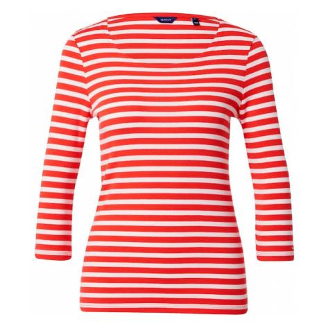 GANT Tričko  svetločervená / biela
