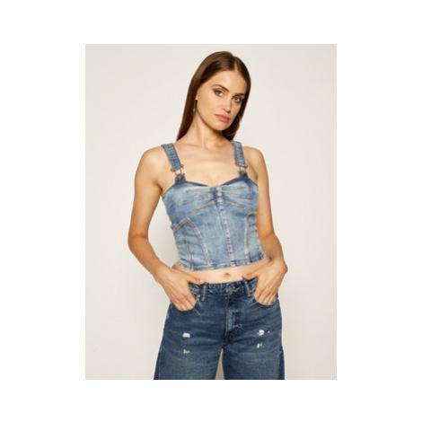 Guess Top Diana W02H13 D3ZT1 Modrá Slim Fit