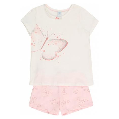 SANETTA Pyžamo  strieborná / biela / ružová
