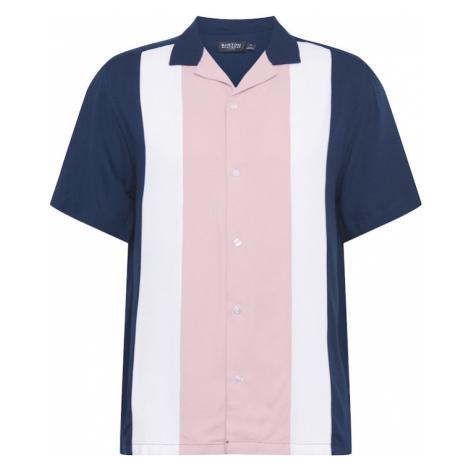BURTON MENSWEAR LONDON Košeľa  rosé / námornícka modrá