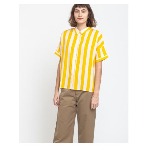 Dedicated Shirt Short Sleeve Nibe Big Stripes Yellow